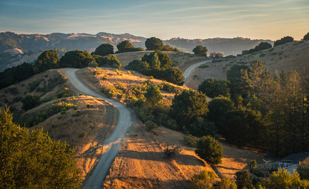 Photo: Morning light along the Lafayette Reservoir Rim Trail, Lafayette, Contra Costa County, California