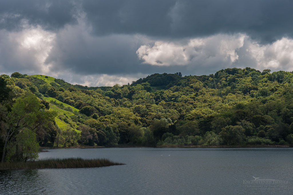 Photo: Storm clouds over the Lafayette Reservoir, Lafayette, Contra Costa County, California