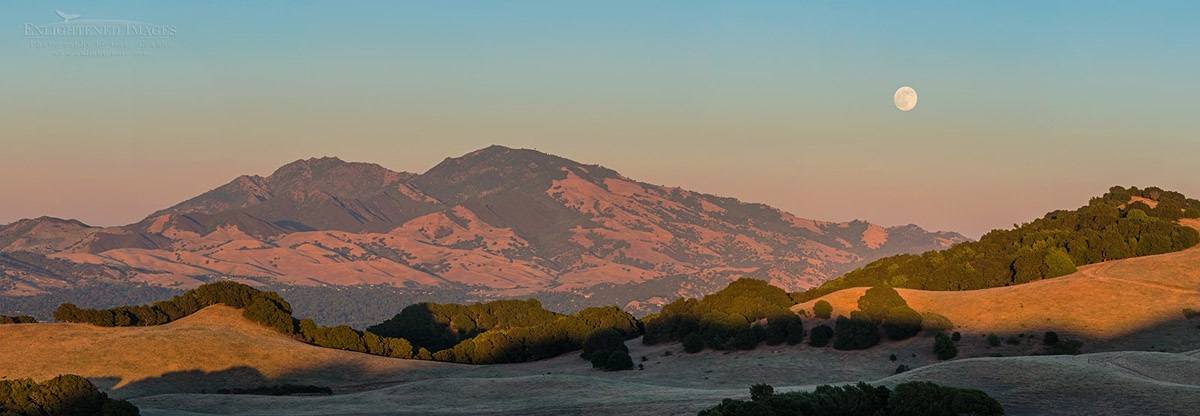 Photo: Panorama of a 'super-moon' (June, 2013) full moon rising over Mount Diablo and the hills of Briones Regional Park, Contra Costa County, California