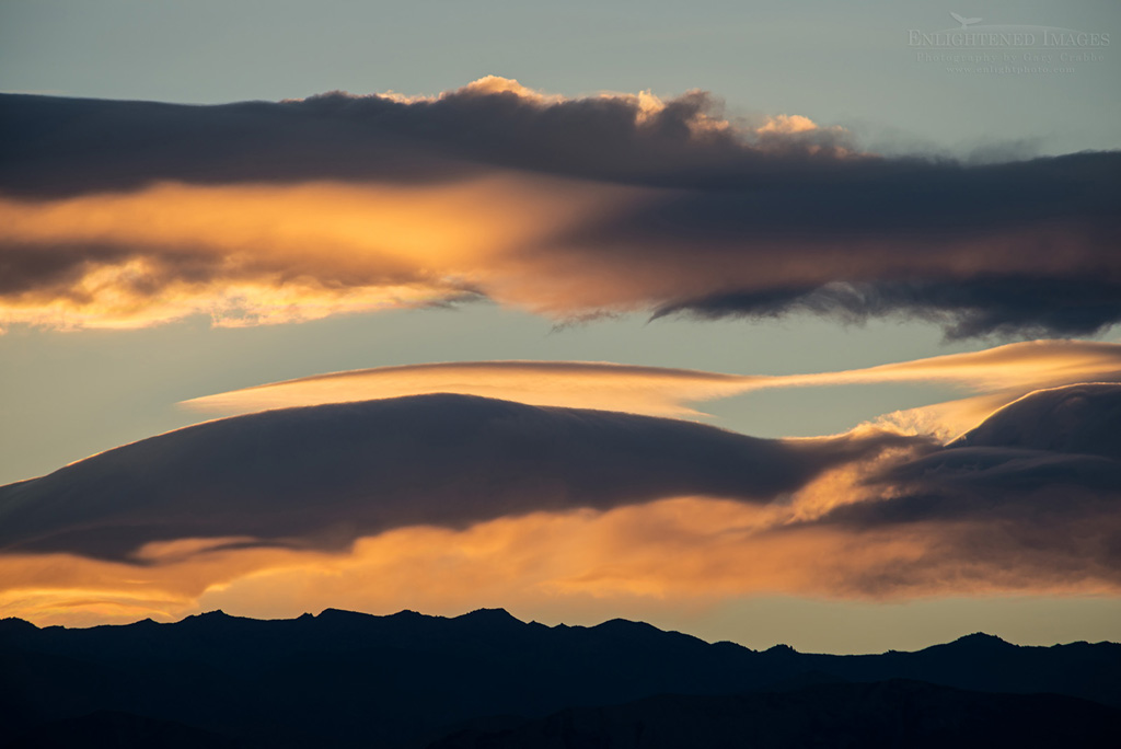 Photo: Clouds at sunset over the Panamint Mountain range in Death Valley National Park, California