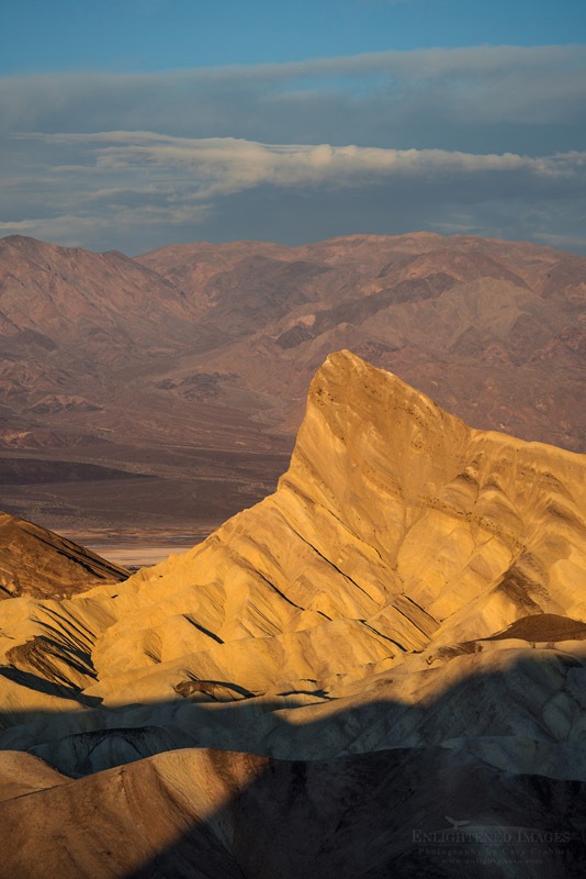 Photo: Manly Beacon as seen from Zabriskie Point, Death Valley National Park, California