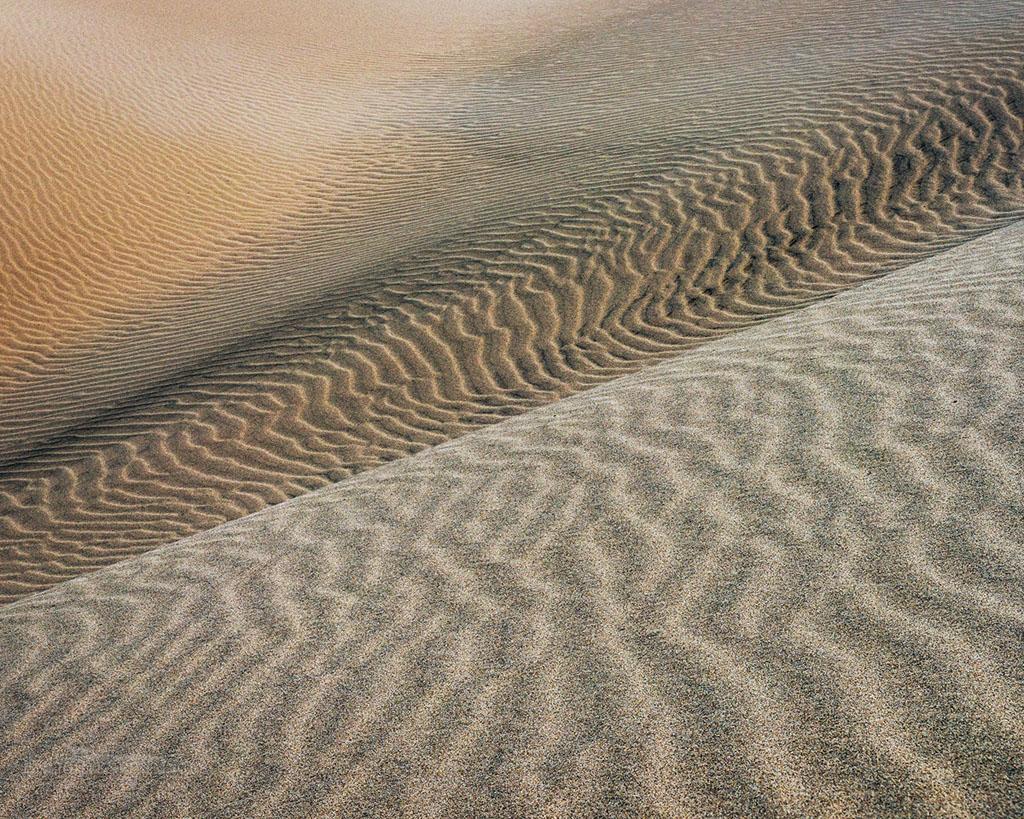 Photo: Windblown sand pattern detail in sand dune at Eureka Dunes, Death Valley National Park, California