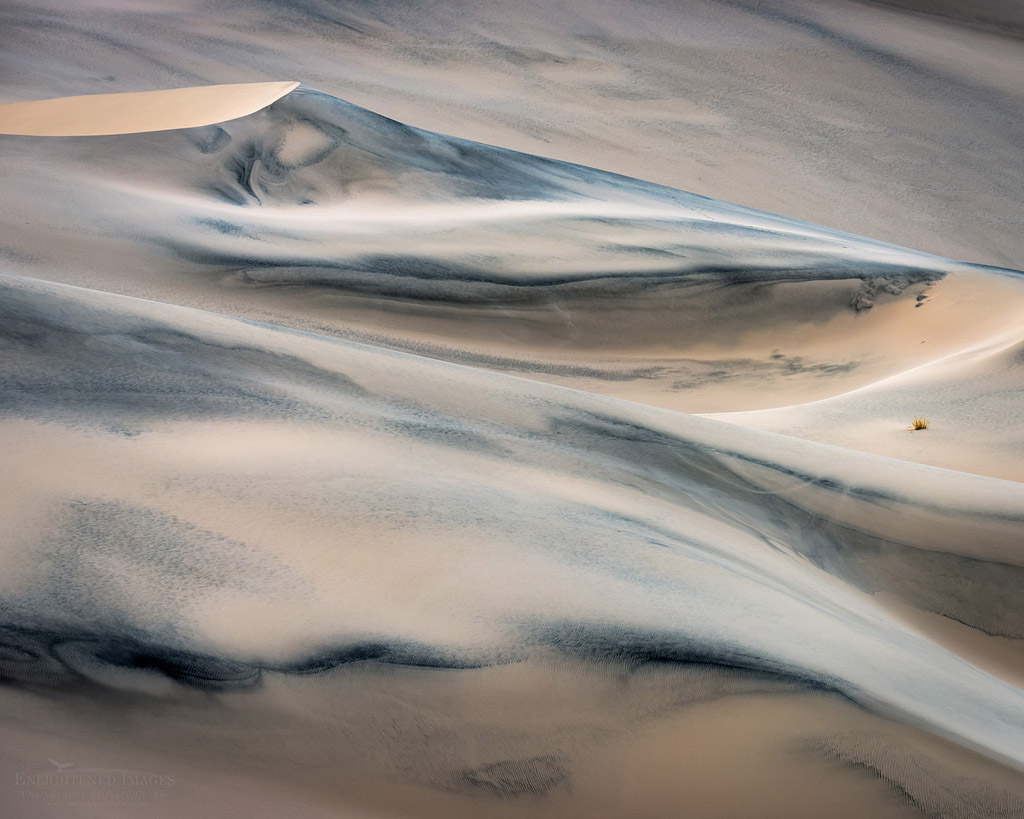 Photo: Windblown sand pattern detail in sand dune at Eureka Dunes, Death Valley National Park, California