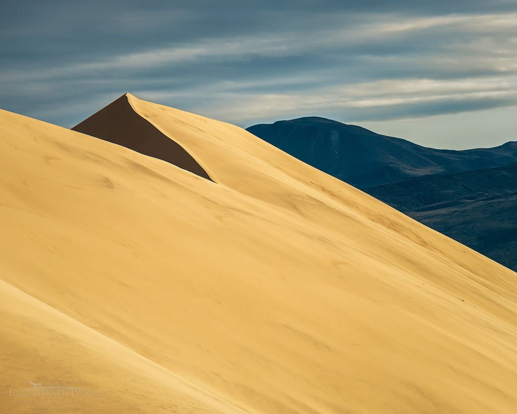 Photo: Sunset light on the Eureka Sand Dune, Eureka Dunes, Death Valley National Park, California