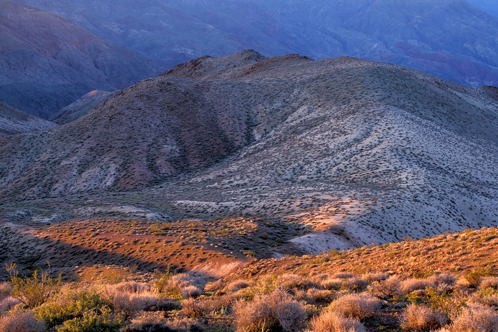 Photo: Morning lighrt on the Black Mountains from Dantes View, Death Valley National Park, California