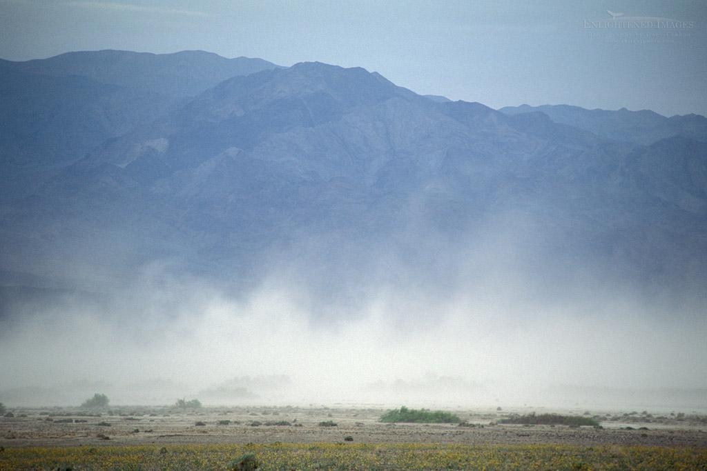 Photo: Sandstorm below the Panamint Mountains, near Furnac Creek, Death Valley National Park, California