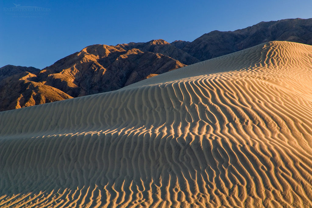 Photo: Wind blown sand patterns in the Mesquite Flat Sand Dunes, near Stovepipe Wells, Death Valley National Park, California