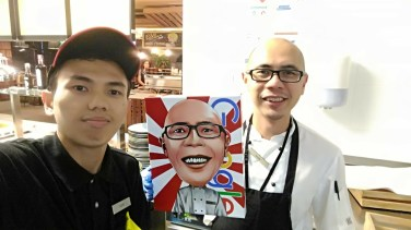 With ko Andry and his Caricature in canvas print