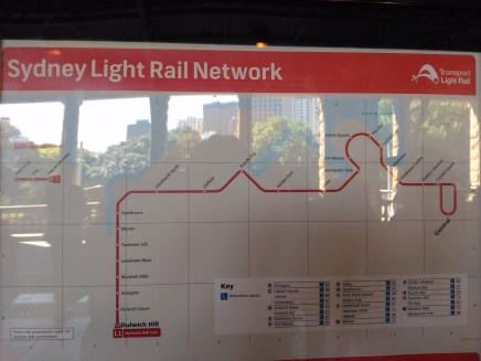 Map of Sydney Light Rail
