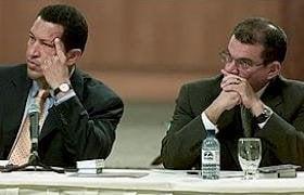 Chávez y su ministro Rodríguez Chacín