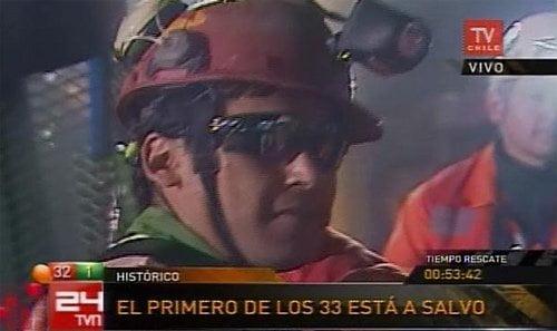 Minero rescatado