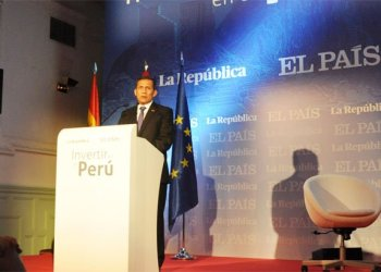 Mandatario Ollanta Humala ofrece discurso a empresarios en España