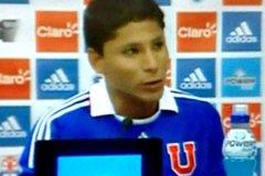 El delantero peruano jugará en la U, de Chile por seis meses