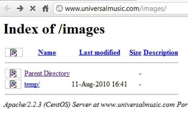 Sitio de Universal destruído por #OpMegaupload