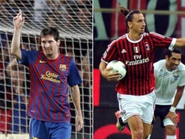 Messi e Ibrahimovic aportaron con un gol en el triunfo de sus equipos