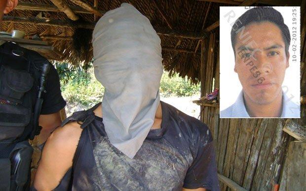 Teófilo Trujillo Huarauya, detenido como presunto integrante de la columna de Artemio