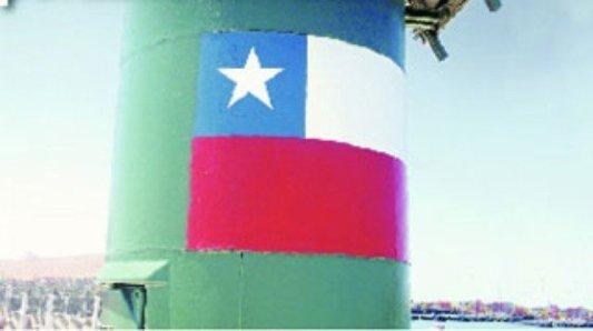 ¿Otra provocación? Faro en territorio peruano, pintado con la bandera de Chile