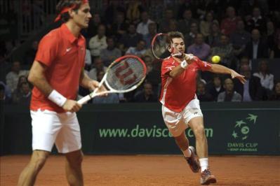 Roger Federer no pudo lograr punto alguna con su selección y cayó ante EE,UU,