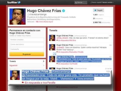Twitter de Hugo Chávez (Infobae)
