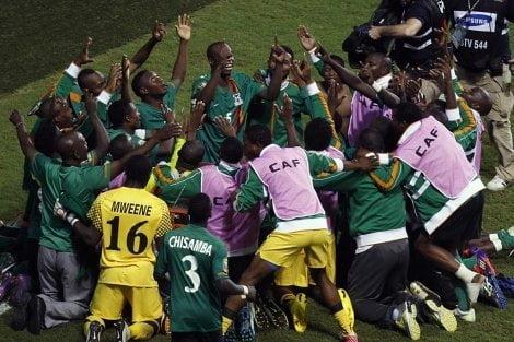 Zambia celebra por primera vez la obtención de la Copa Africana de Naciones