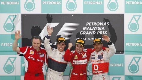 Fernando Alonso obtuvo en Malasia su primer triunfo del 2012 en la F1