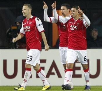AZ Alkmaar venció 2-1 al Valencia y buscará en Espala su clasificación