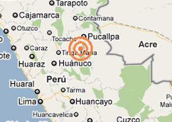 Un sismo de 3.9 grados se registró en Tingo María