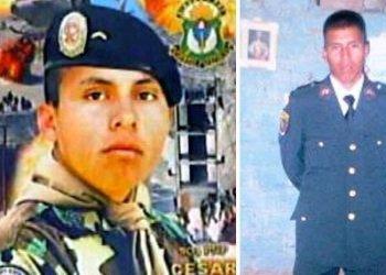 Suboficiales Luis Astuquillca y César Vilca