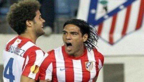 Nada dicho. Atlético Madrid derrotó 4-2 al Valencia con dos anotaciones del colombiano Radamel Falcao García