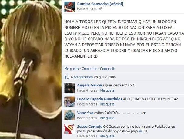 Facebook del Kurt Cobain Peruano