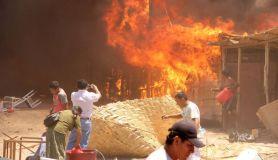 Incendio tras sismo en Piura (Referencial)