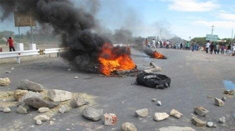 Protestas en Piura