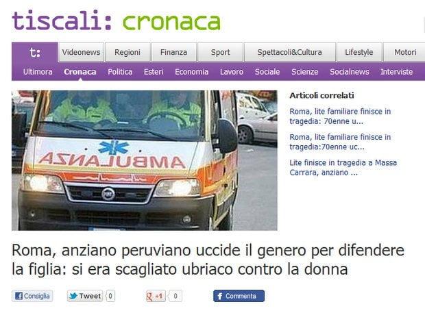Captura de medios italianos