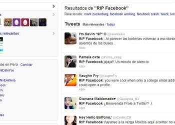 Cada segundo aparece RIP Facebook en Twitter