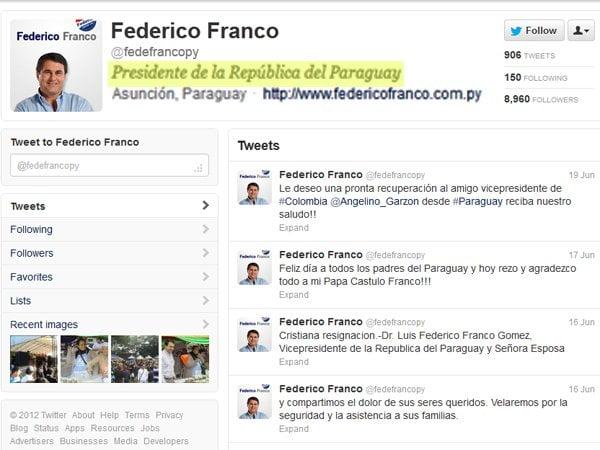 Cuenta Twitter del presidente de Uruguay