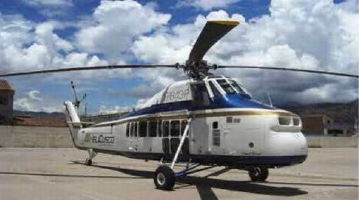 El helicóptero pertenece a la empresa Helicópteros del Cusco S.A