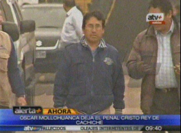Alcalde Óscar Mollohuanca abandona penal