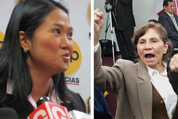 Keiko Fujimori y Elena Iparraguirre