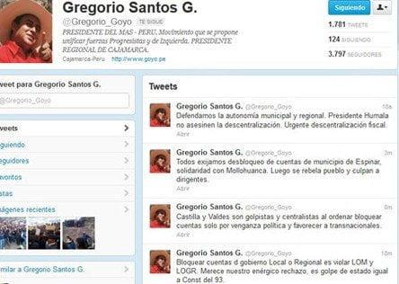 Twitter de Gregorio Santos