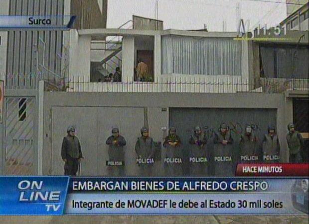 Intervención en casa de Alfredo Crespo
