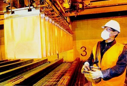 La producción de oro en el mes de junio descendió en el mes de junio