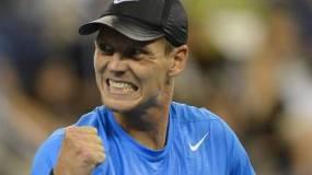 La sorpresa del Abierto de los Estados Unidos 2012, la protagonizó el checo Tomas Berdych al eliminar a Roger Federer
