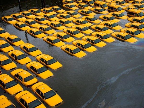 Las precipitaciones y el desborde de los ríos regaron de agua las calles de Nueva York y varias localidades