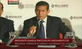 SUNAT lanzó el programa del Operador Económico Autorizado, en una ceremonia a la que asistió el presidente de la nación