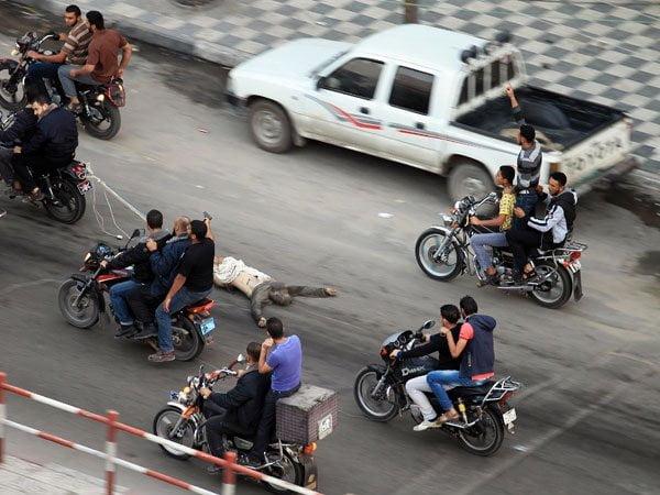 Brutal ejecución en las calles de Palestina