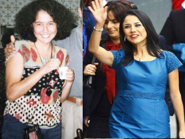 Nadine Heredia, antes y después. (Hildebrandt en sus trece/Andina)