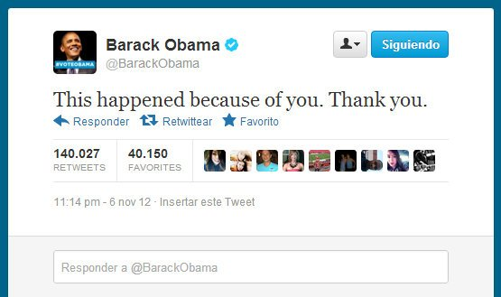 Barack Obama en Twitter