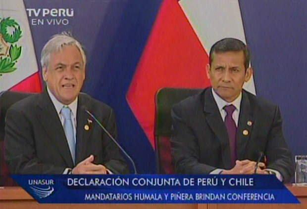 Sebastián Piñera y Ollanta Humala