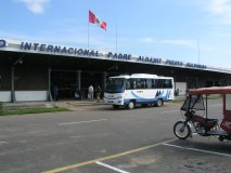 Fachada del aeropuerto de Puerto Maldonado