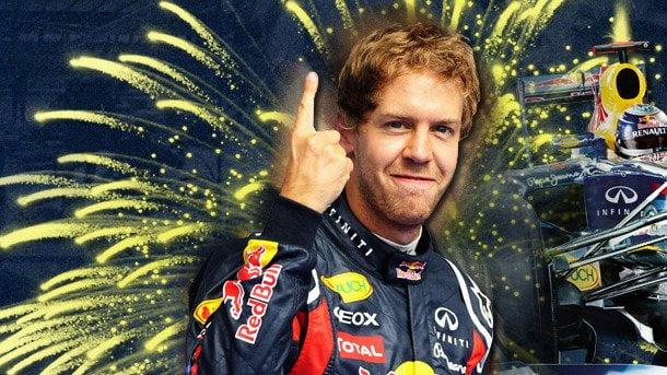 Sebastian Vettel celebró hoy su tercer título mundial de la Fórmula 1